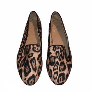 Charming Charlie Loafer Flats Leopard Print Size 6